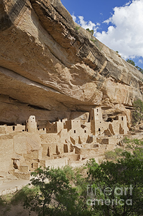 Native American Cliff Dwellings Print by Bryan Mullennix