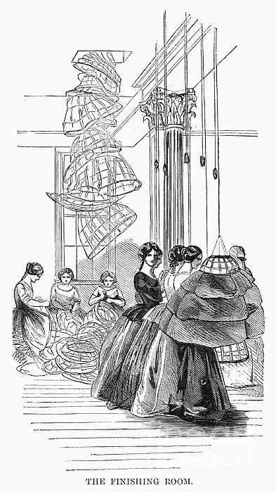Skirt Factory, 1859 Print by Granger