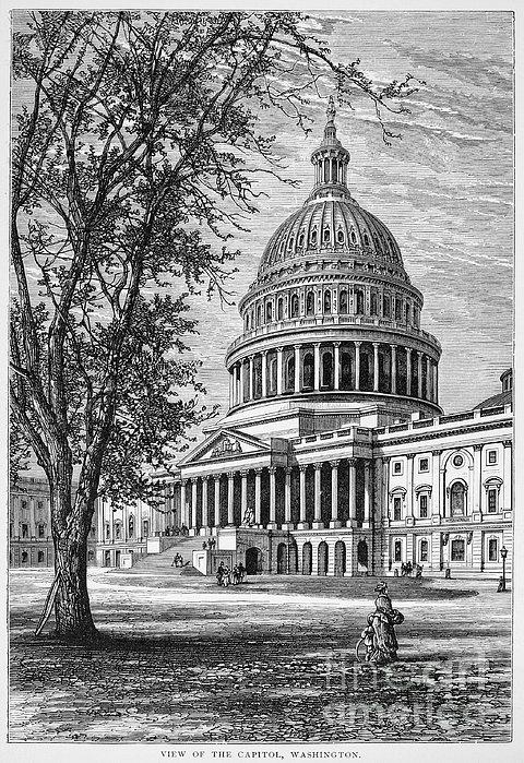 U.s. Capitol Print by Granger