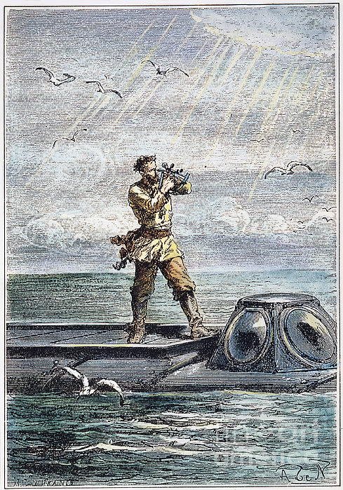 Verne: 20,000 Leagues, 1870 Print by Granger