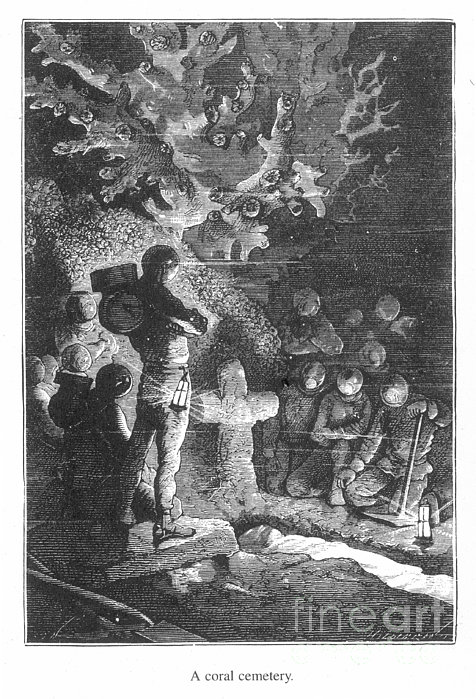 Verne: 20,000 Leagues Print by Granger