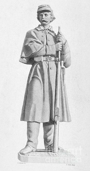 Civil War: Soldier Print by Granger