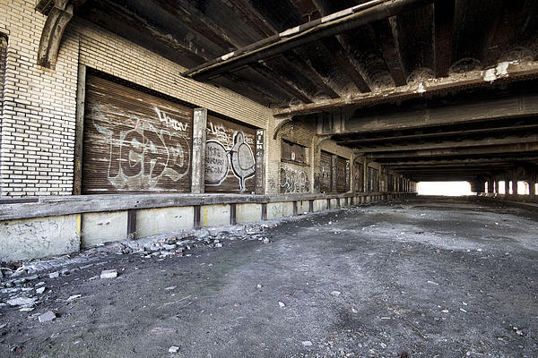 Detroit Abandoned Building Print by Joe Gee