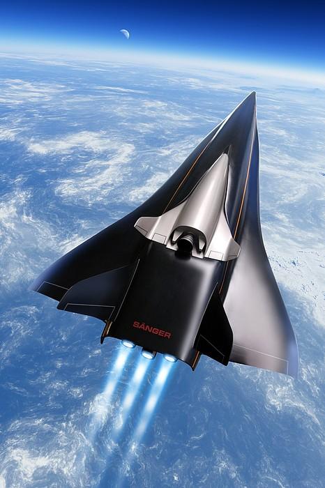 Saenger Horus Spaceplane, Artwork Print by Detlev Van Ravenswaay