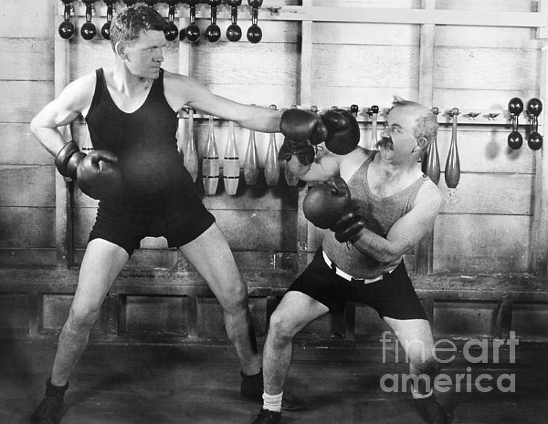 Silent Film Still: Boxing Print by Granger