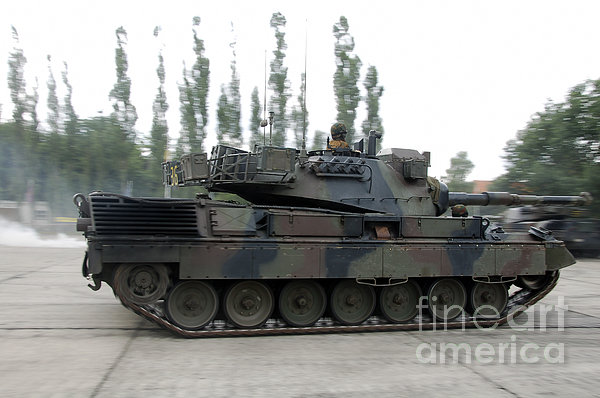The Leopard 1a5 Of The Belgian Army Print by Luc De Jaeger