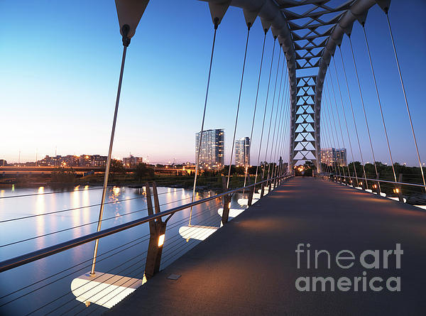 Toronto The Humber River Arch Bridge Print by Oleksiy Maksymenko