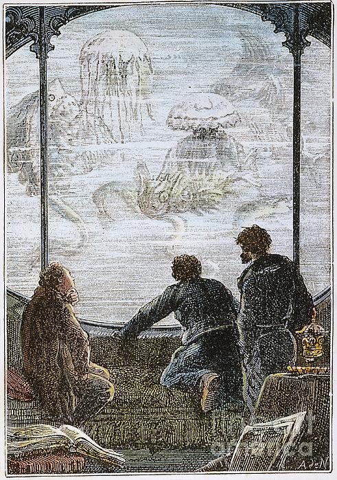Verne: 20,000 Leagues, 1870 Print by Granger
