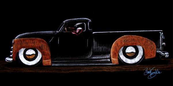 53' Chevy Pickup Print by Beau Van Sickle