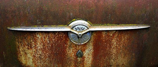 54 Buick Emblem Print by Steve McKinzie