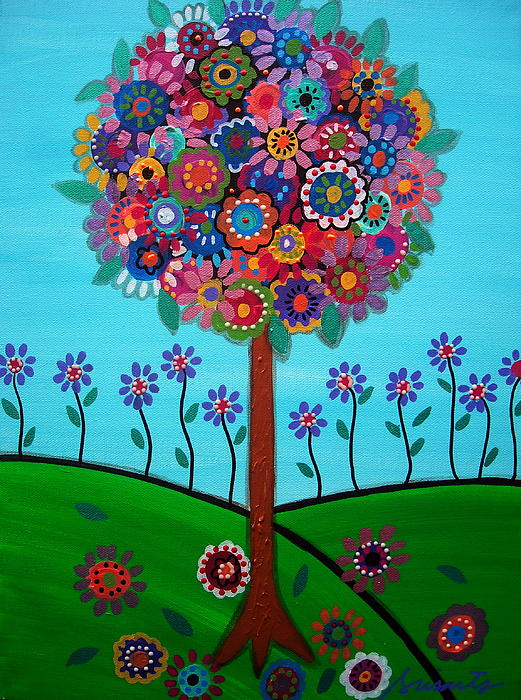 Tree Of Life Print by Pristine Cartera Turkus