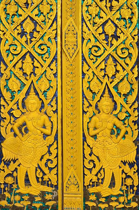 Antique Thai Temple Mural Patterns Print by Kanoksak Detboon