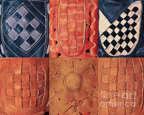 6 Baseball Gloves Print by Ben Haslam