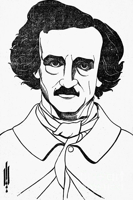 Edgar Allan Poe (1809-1849) Print by Granger