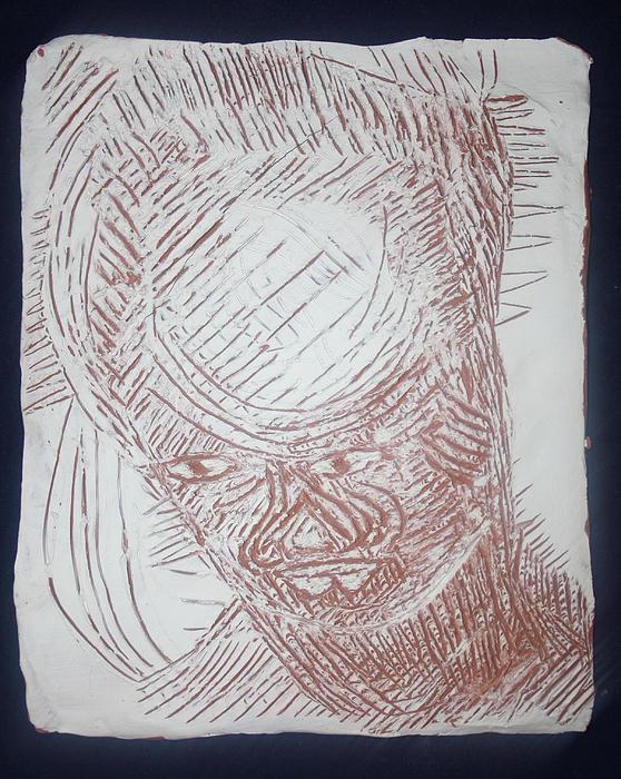 Jesus - Tile Print by Gloria Ssali