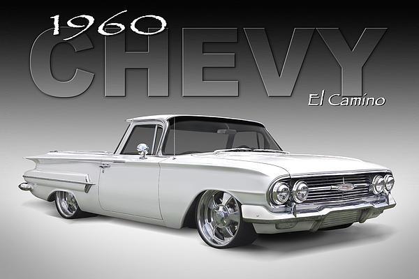 60 Chevy El Camino Print by Mike McGlothlen