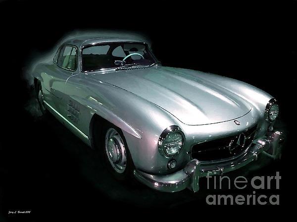 61 Mercedes Print by Jerry L Barrett