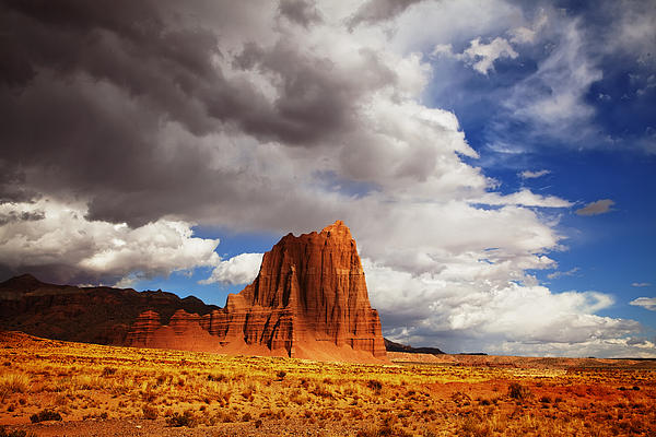 Capitol Reef National Park Catherdal Valley Print by Mark Smith