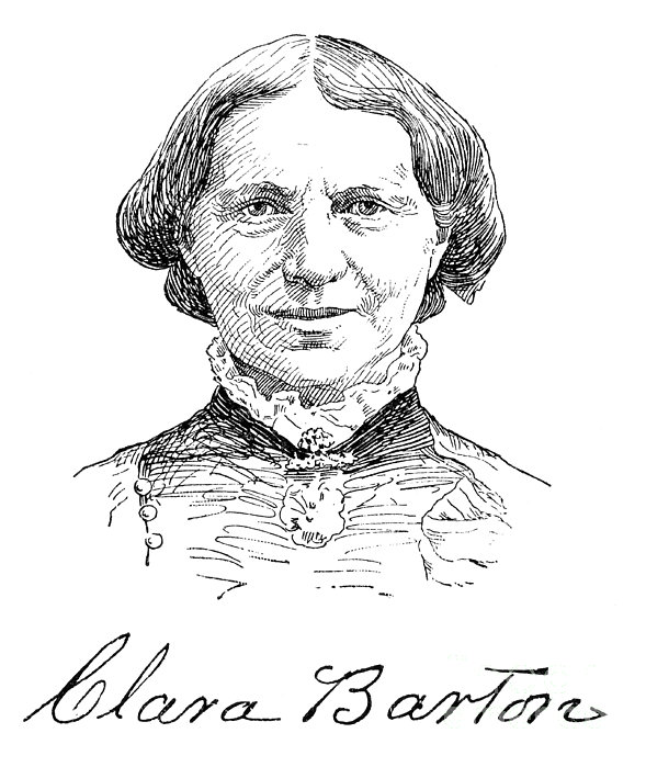 Clara Barton 1821 1912 Print By Granger