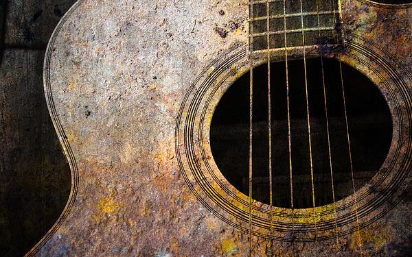 Old Guitar Print by Nattapon Wongwean