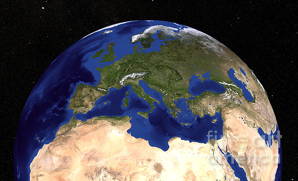 The Blue Marble Next Generation Earth Print by Stocktrek Images