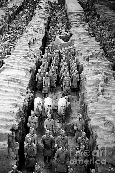 The Terracotta Army Print by Sami Sarkis