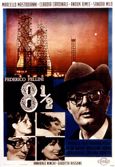 8 12, Marcello Mastroianni, 1963 Print by Everett