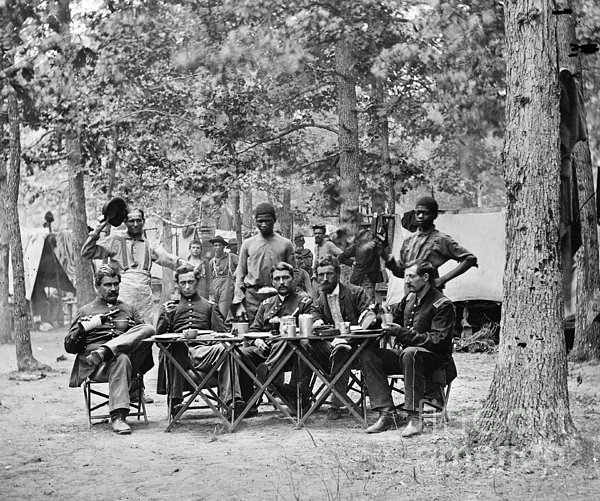 Civil War: Union Officers Print by Granger