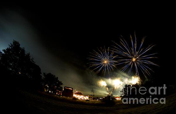 Fireworks Print by Angel  Tarantella