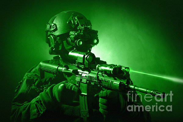 Special Operations Forces Soldier Print by Tom Weber