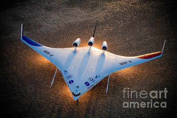 X48b Blended Wing Body Print by Nasa