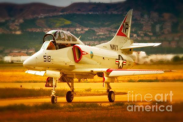 A-4 Skyhawk Up For A Hunt Print by Gus McCrea