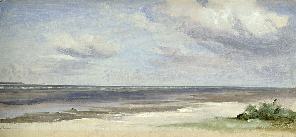 A Beach On The Baltic Sea At Laboe Print by Jacob Gensler
