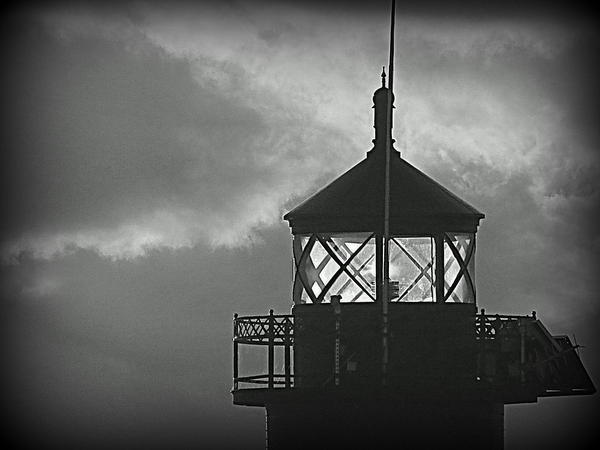 A Beacon In The Night Print by Kay Novy