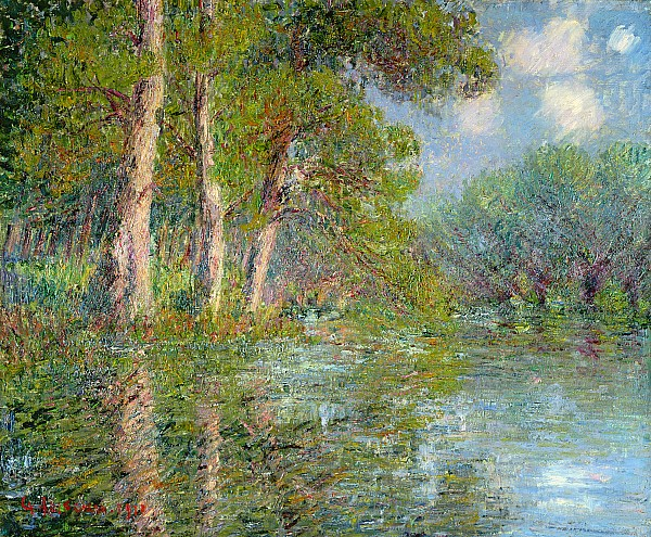 A Bend In The Eure Print by Gustave Loiseau