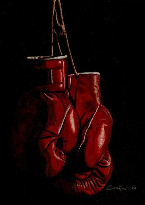 A Boxer's Passion Print by Laura Evans