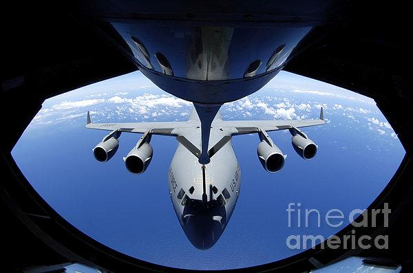 A C-17 Globemaster IIi Receives Fuel Print by Stocktrek Images