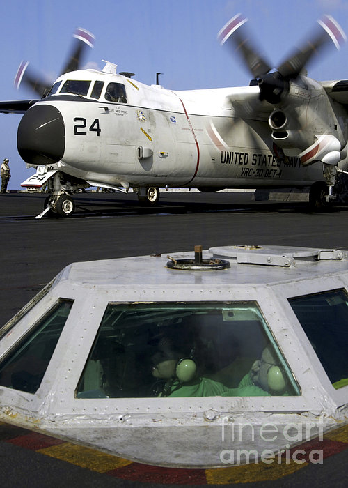 A C-2a Greyhound Prepares For Launch Print by Stocktrek Images