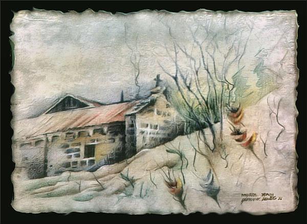 A Chapel In Muros 1982 Print by Glenn Bautista