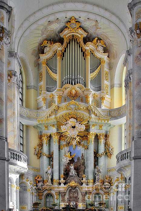 A Church Filled With Music - Church Of Our Lady Dresden Print by Christine Till