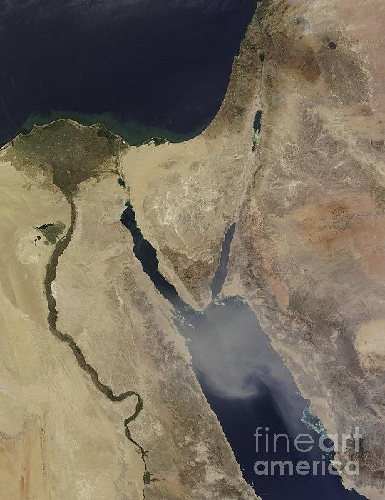 A Cloud Of Tan Dust From Saudi Arabia Print by Stocktrek Images