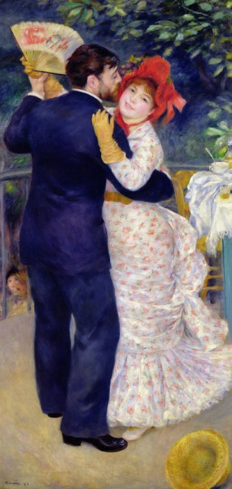 A Dance In The Country Print by Pierre Auguste Renoir