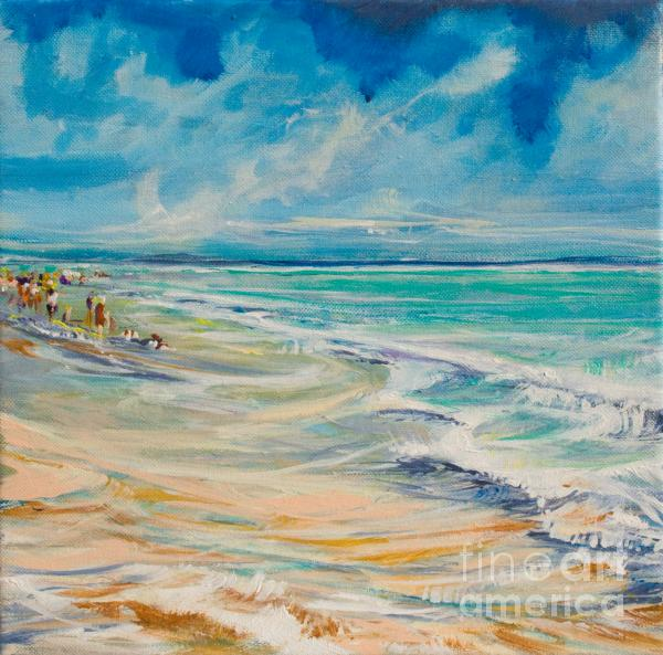 A Day At The Beach Painting  - A Day At The Beach Fine Art Print