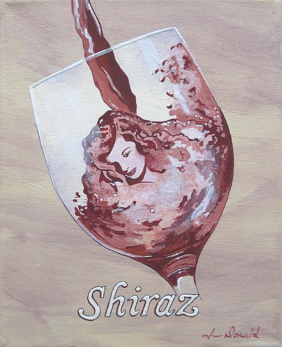 A Day Without Wine - Shiraz Print by Jennifer  Donald