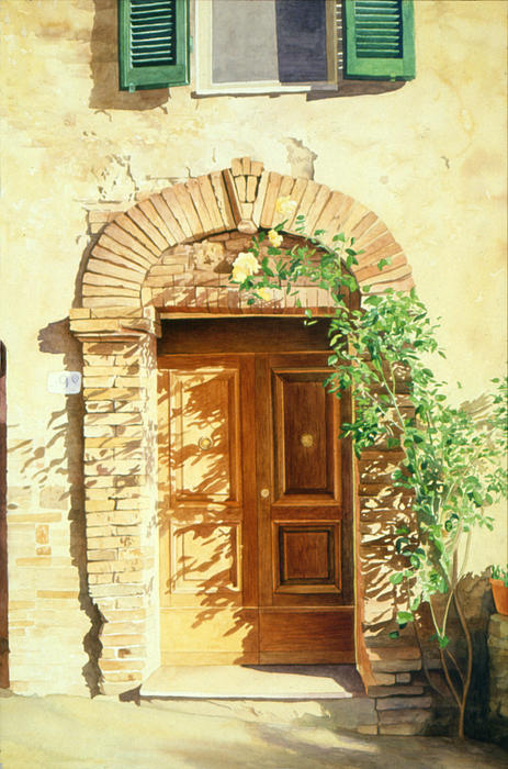 A Doorway in Tuscany Painting
