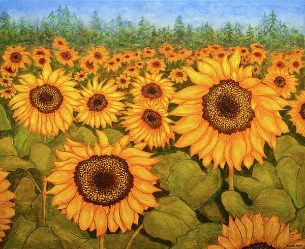 Heather Assaf - A Field of Sunflowers