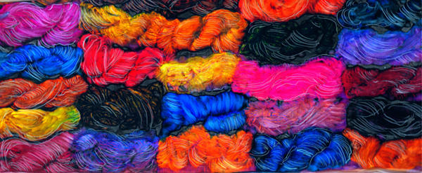 A Garden Of Yarn Painting  - A Garden Of Yarn Fine Art Print