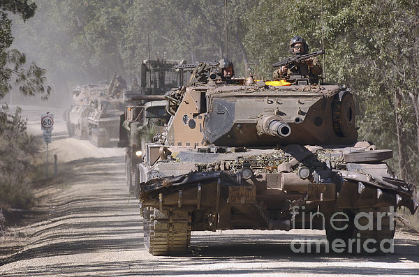 A German Designed Leopard As1 Gun Tank Print by Stocktrek Images