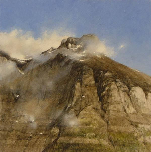 A Glacier Peak In The Mist Painting