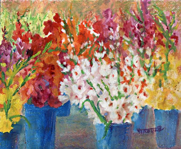 A Gladiola Party Print by Jimmie Trotter